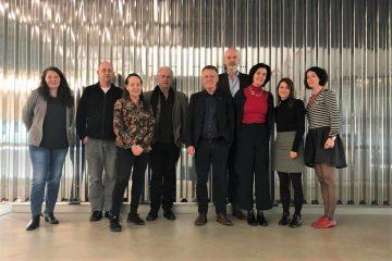 Steering Group der Biennial Conference 2020 mit Mitgliedern von ELIA und der ZHdK anlässlich eines Treffens im Toni-Areal 2019. Foto: ZHdK