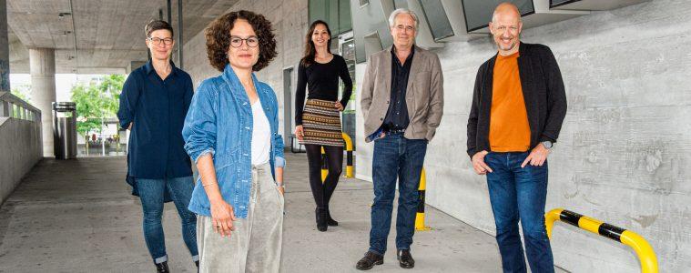 Von links nach rechts: Ursula Ledergerber, Karin Zindel, Friederike Vinzenz, Michael Eidenbenz, Michael Krohn. Foto: Johannes Dietschi