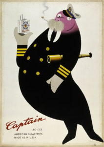 Captain / 80 cts. / American cigarettes made as in U.S.A., 1946. Museum für Gestaltung, Plakatsammlung © by Collection HERBERT LEUPIN / www.herbert-leupin.ch