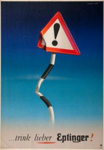 . . . trink lieber Eptinger!, 1947.Museum für Gestaltung, Plakatsammlung © by Collection HERBERT LEUPIN / www.herbert-leupin.ch