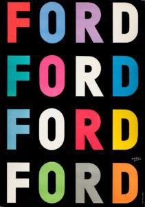Ford, 1954. Museum für Gestaltung, Plakatsammlung © by Collection HERBERT LEUPIN / www.herbert-leupin.ch