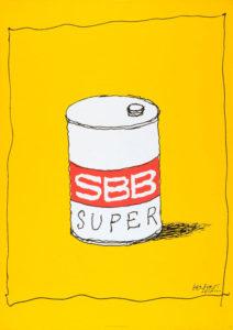 SBB Super, 1978. Museum für Gestaltung, Plakatsammlung © by Collection HERBERT LEUPIN / www.herbert-leupin.ch