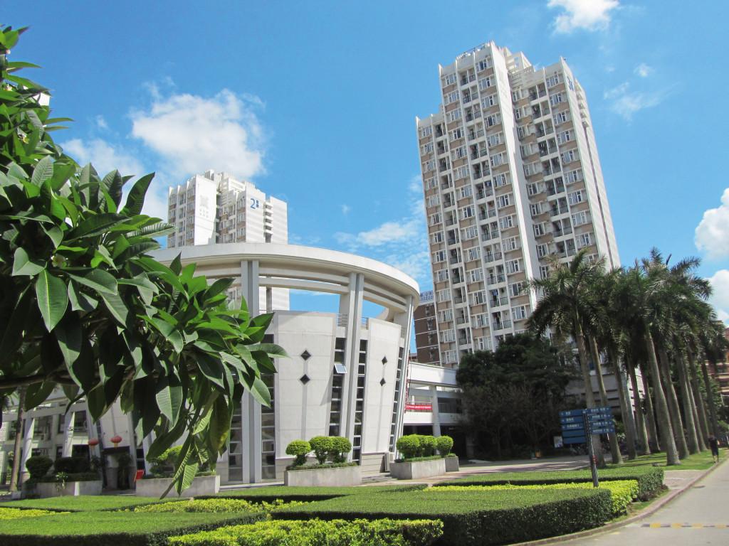 Der Campus des Harbin Institute of Technology in Shenzhen, im Vordergrund die Mensa. Foto: Heike Pohl