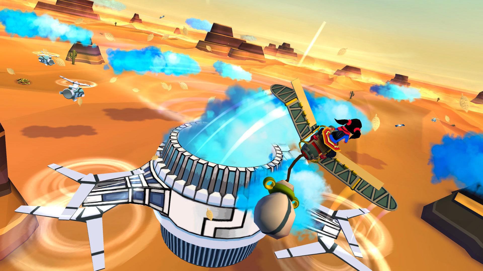 Szene aus dem Game «Cloud Chasers». Bild: © Blindflug Studios AG