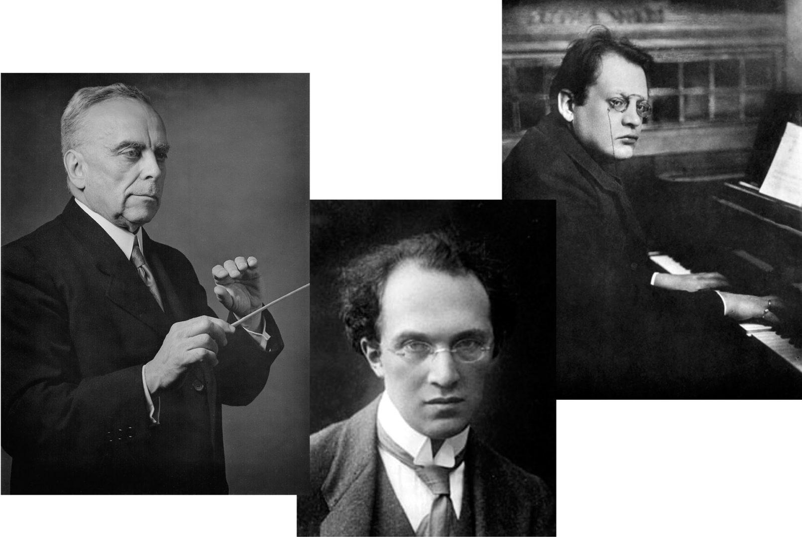Die Komponisten Volkmar Andreae, Franz Schecker und Max Reger (von links).
